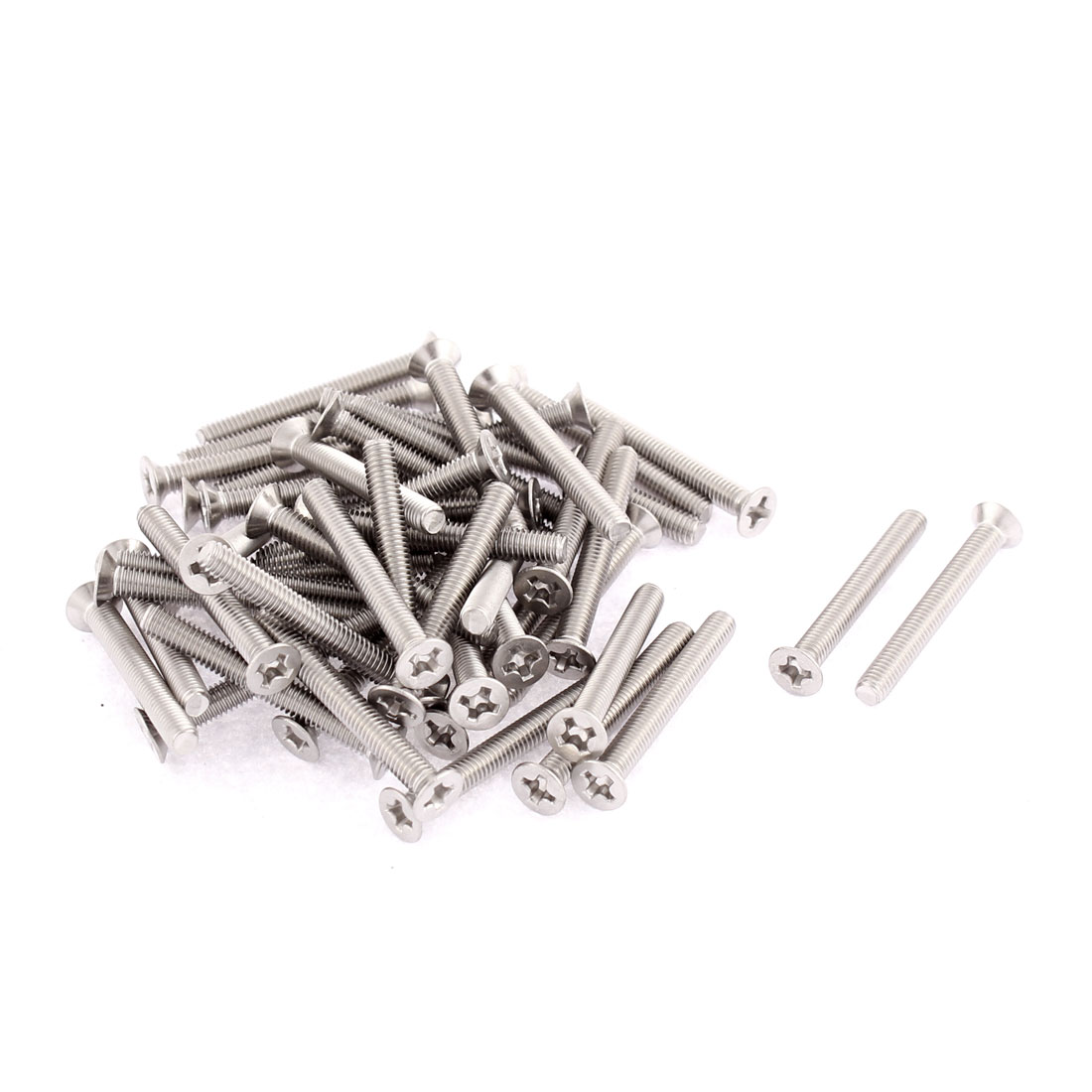 M3 x 25mm Phillips Flat Head Stainless Steel Countersunk Bolts Screws 50pcs