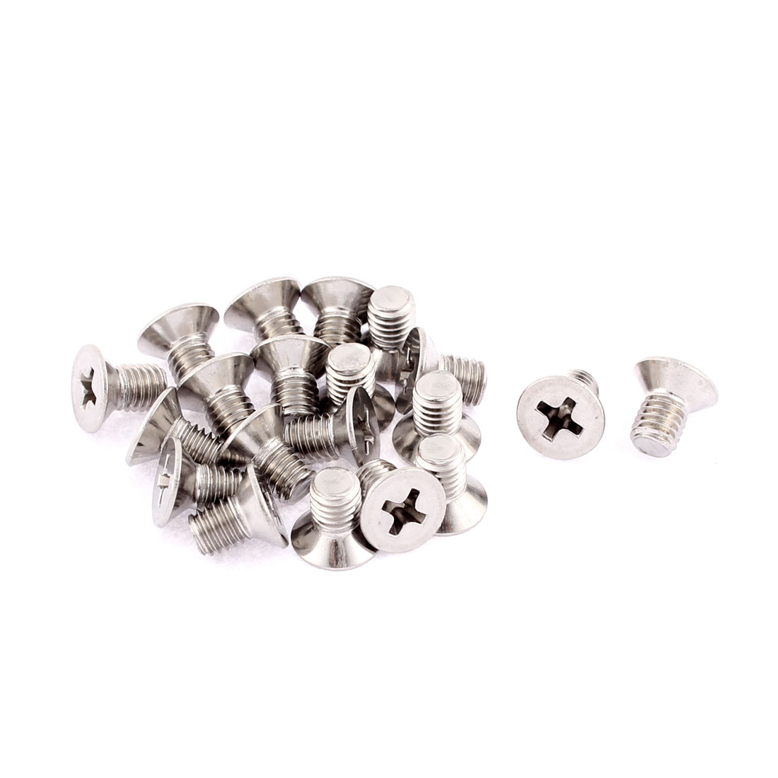 M5 x 8mm Phillips Flat Head Countersunk Bolts Machine Screws 20 Pcs