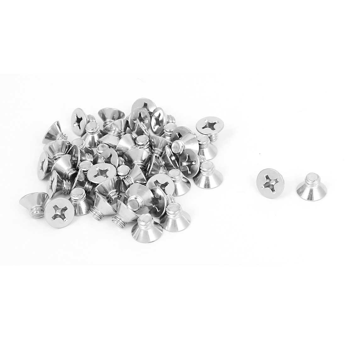 "1/4""-20x5/16"" 304 Stainless Steel Phillips Flat Countersunk Head Screws 50pcs"