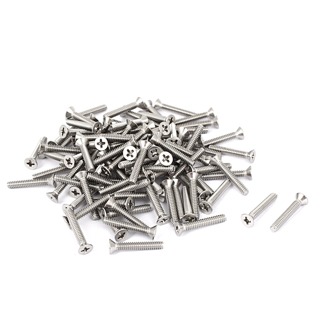 "6#-32x7/8"" 304 Stainless Steel Phillips Flat Countersunk Head Screws 100pcs"