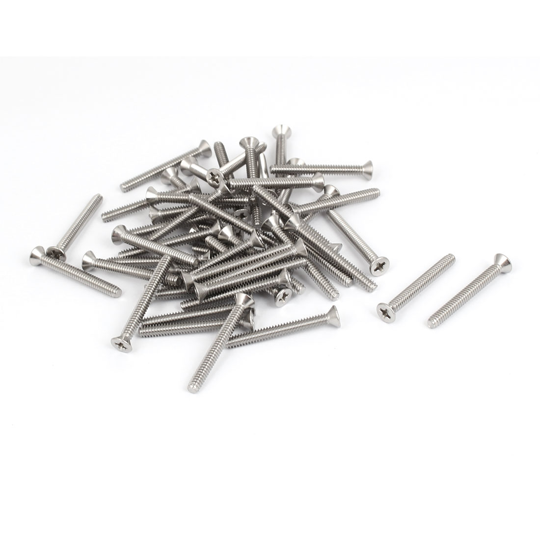 "6#-32x1-1/4"" 304 Stainless Steel Phillips Flat Countersunk Head Screws 50pcs"