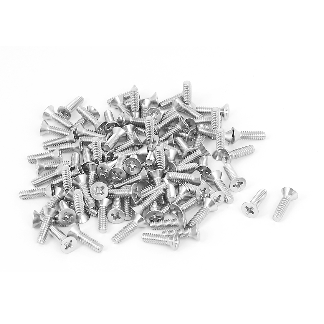 "6#-32x1/2"" 304 Stainless Steel Phillips Flat Countersunk Head Screws 100pcs"
