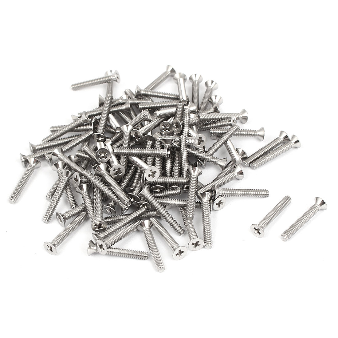 "4#-40x3/4"" Stainless Steel Phillips Flat Countersunk Head Screws 100pcs"