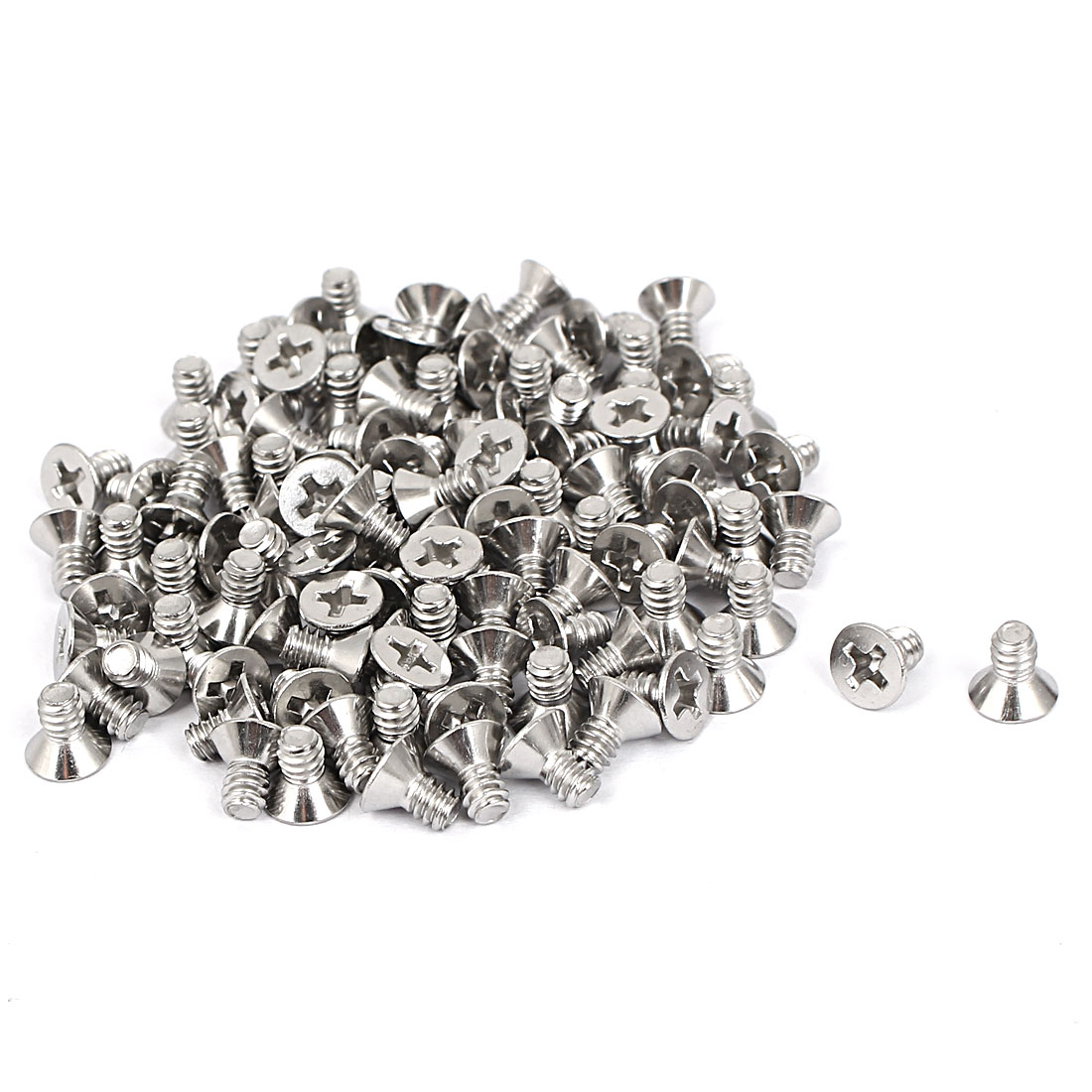 "6#-32x1/4"" Stainless Steel Phillips Flat Countersunk Head Machine Screws 100pcs"