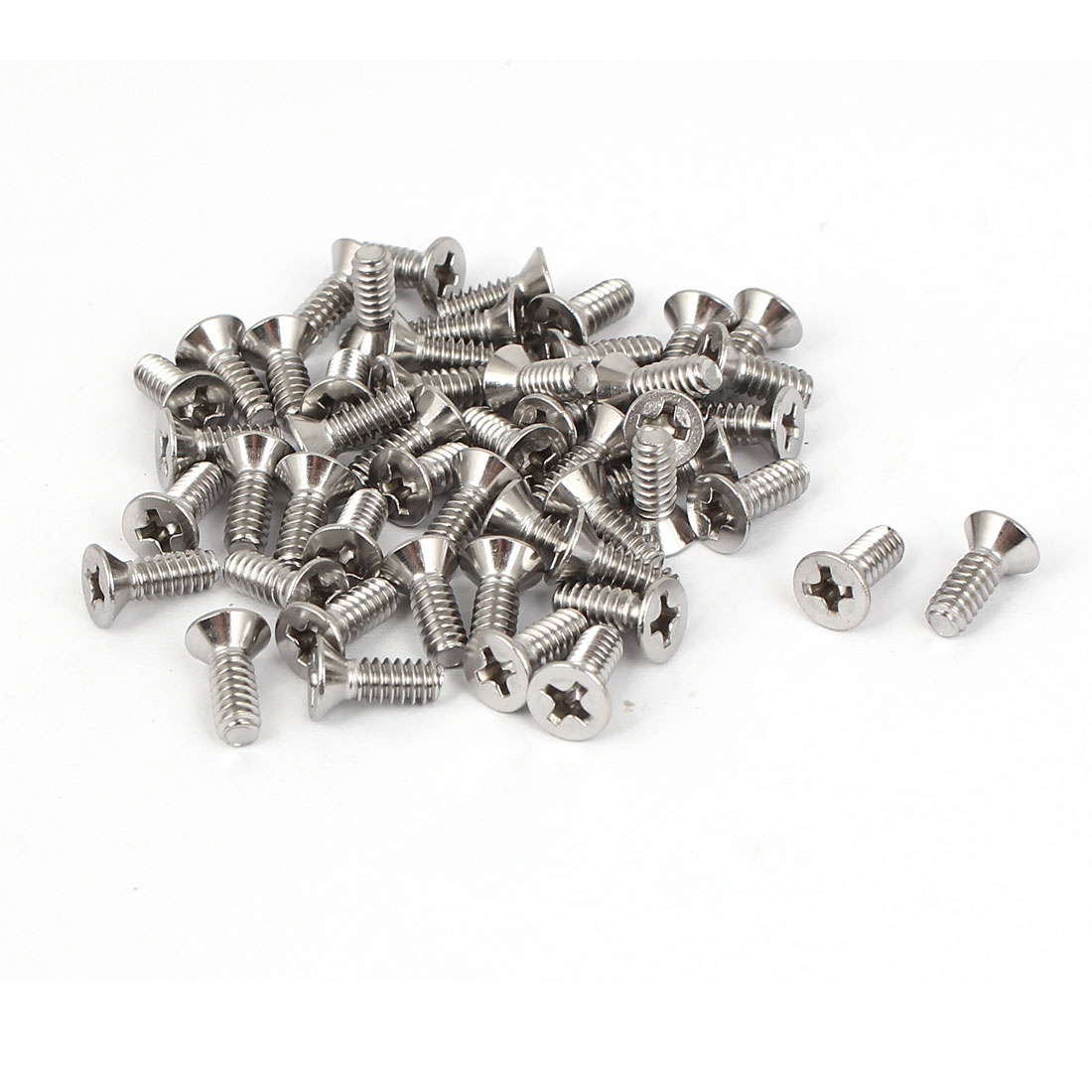 "6#-32x3/8"" Stainless Steel Phillips Flat Countersunk Head Screws 50pcs"