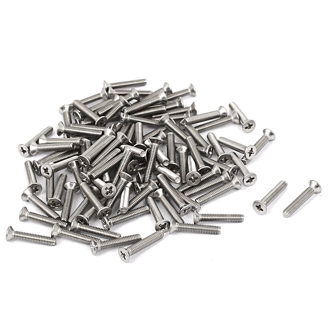M2.5x14mm Stainless Steel Phillips Flat Countersunk Head Screws 100pcs