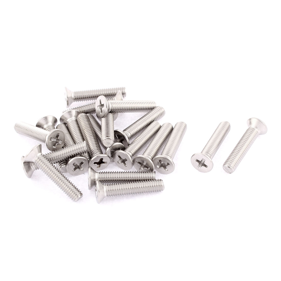 M5 x 25mm Phillips Socket Countersunk Bolts Machine Screws 20 Pcs