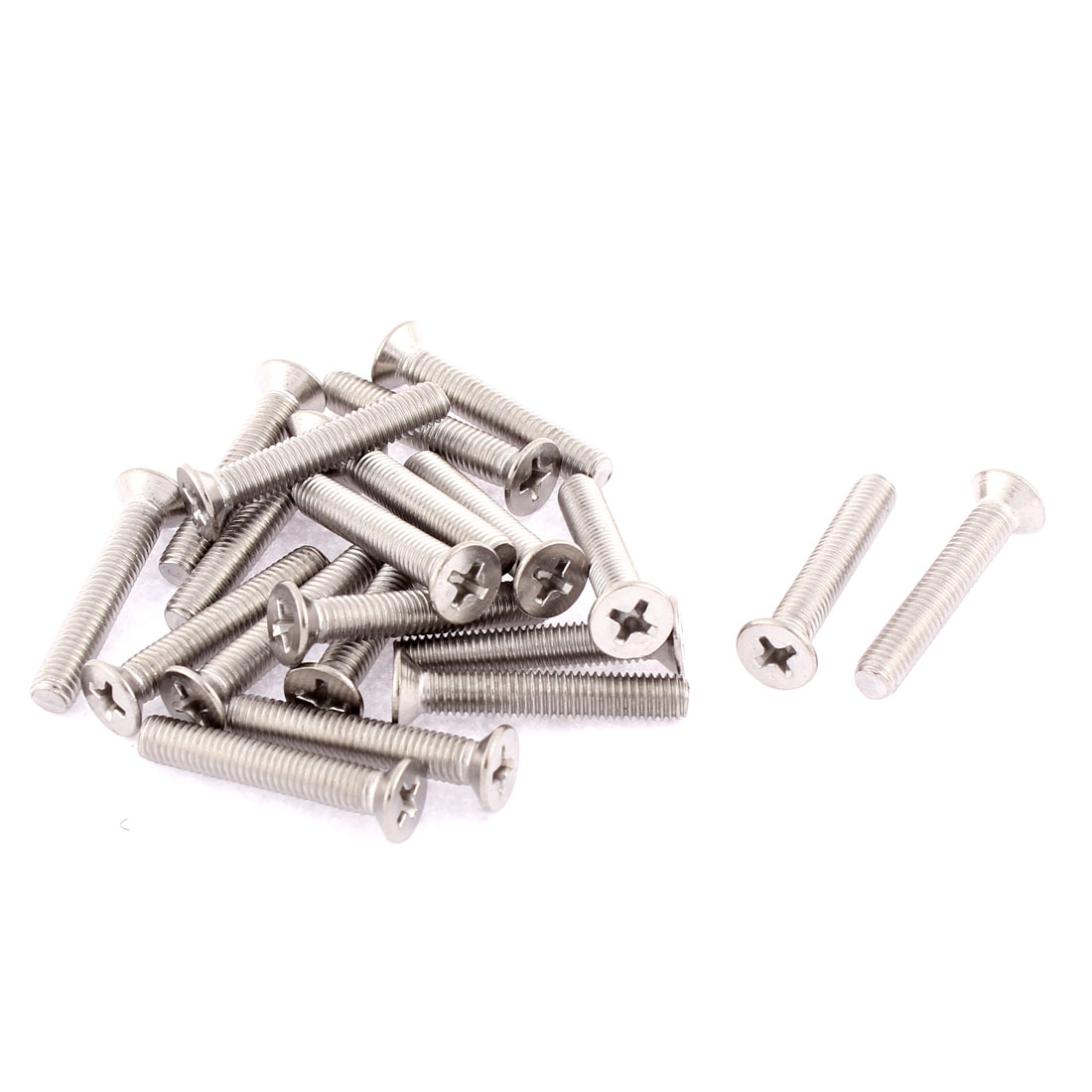 M5 x 30mm Phillips Head Stainless Steel Countersunk Bolts Machine Screws 20 Pcs