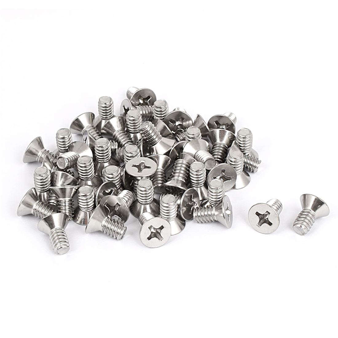"1/4""-20x1/2"" 304 Stainless Steel Phillips Flat Countersunk Head Screws 50pcs"