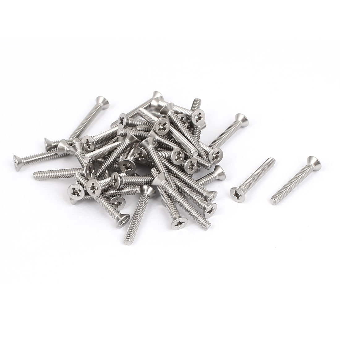 "6#-32x1"" 304 Stainless Steel Phillips Flat Countersunk Head Screws 50pcs"