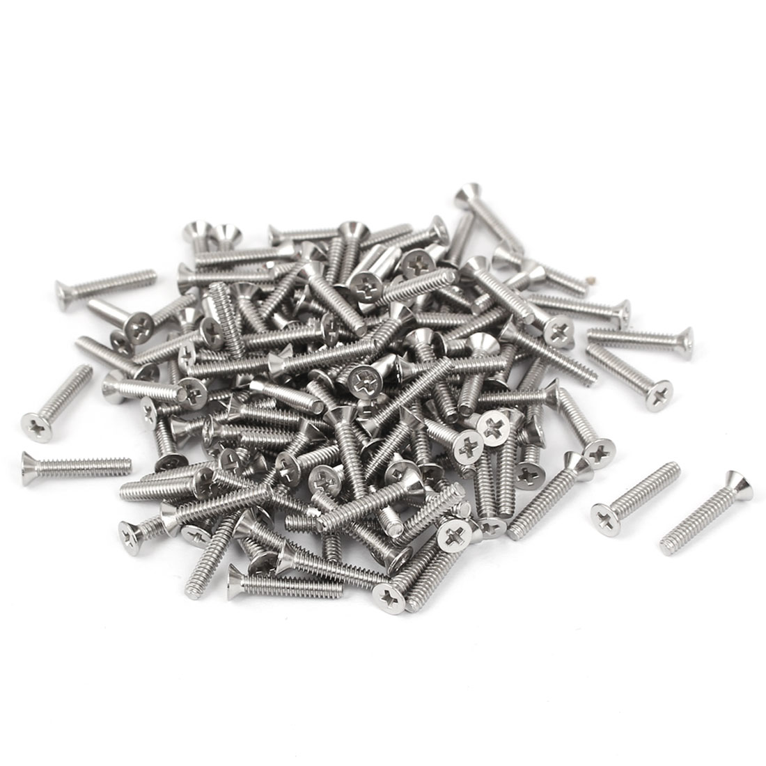 "4#-40x5/8"" Stainless Steel Phillips Flat Countersunk Head Machine Screws 100pcs"