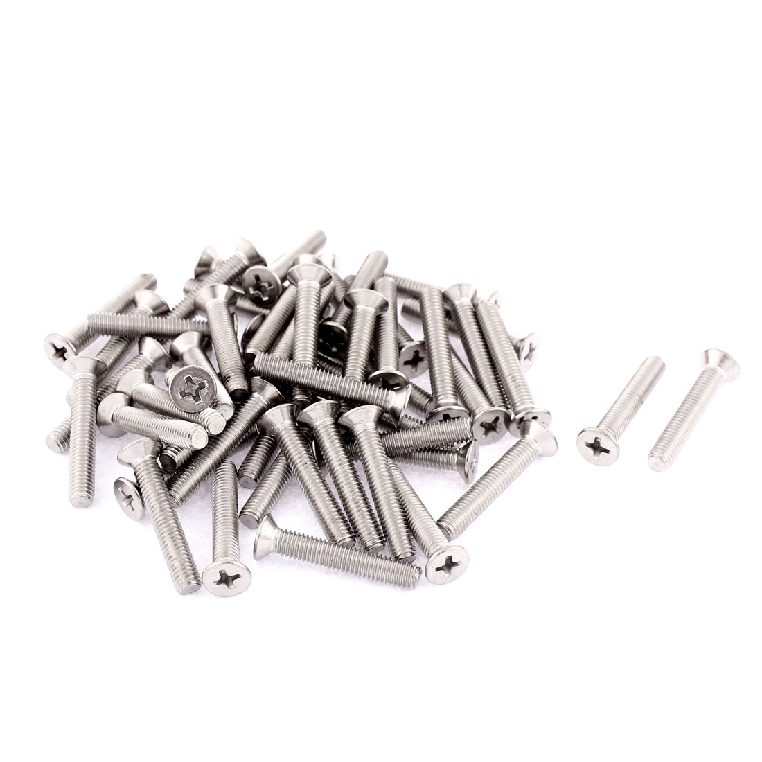 M5 x 30mm Phillips Socket Stainless Steel Countersunk Bolts Machine Screws 50pcs