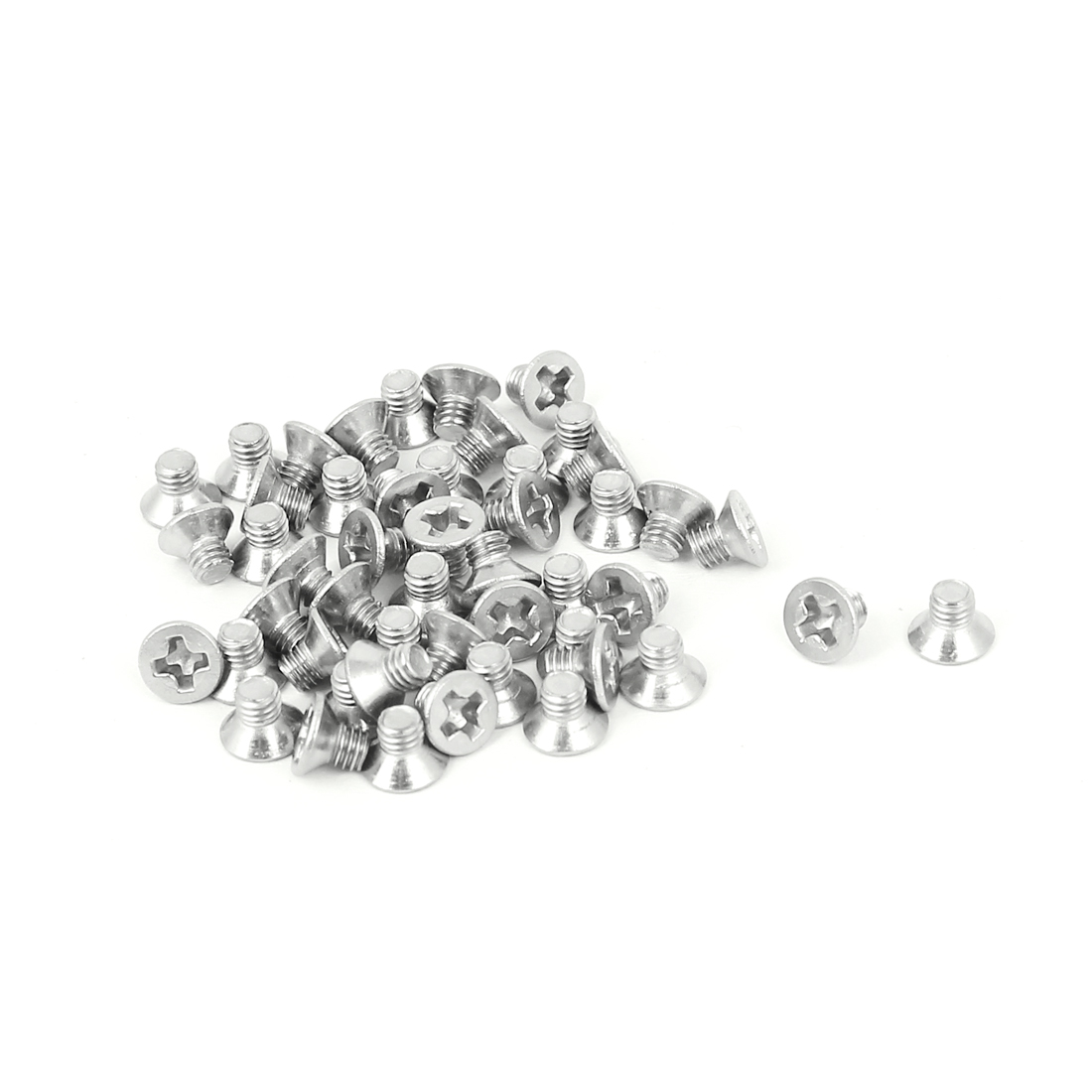 M3x4mm Stainless Steel Phillips Flat Countersunk Head Screws 50pcs