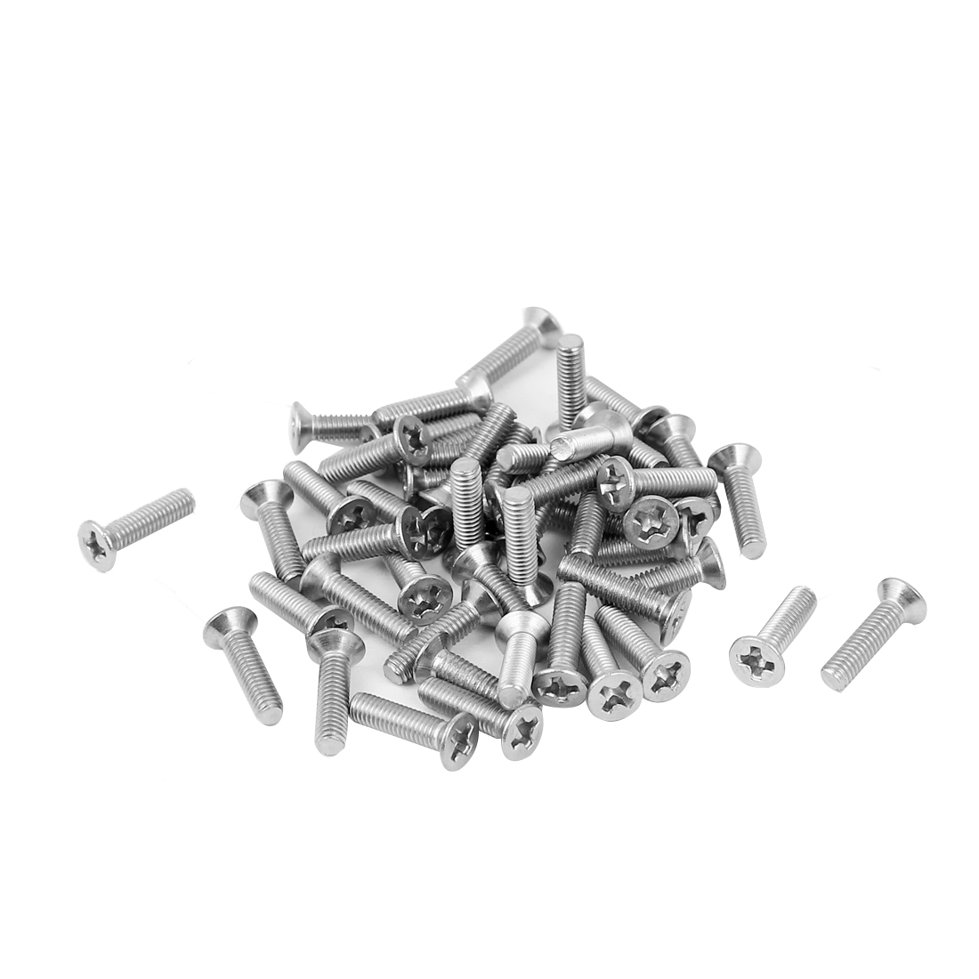M3x12mm 304 Stainless Steel Phillips Flat Countersunk Head Screws 50pcs