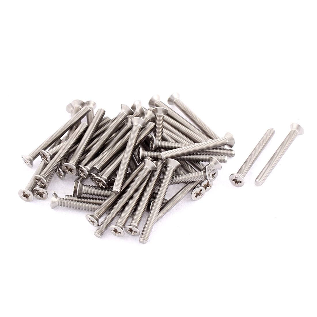M3 x 30mm Phillips Flat Head Countersunk Bolts Machine Screws 50pcs