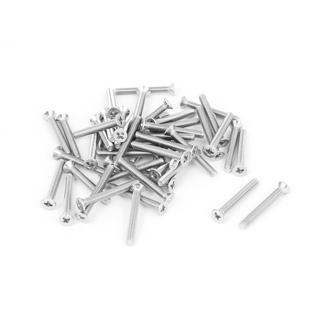 M2.5x20mm Stainless Steel Phillips Flat Countersunk Head Screws 50pcs