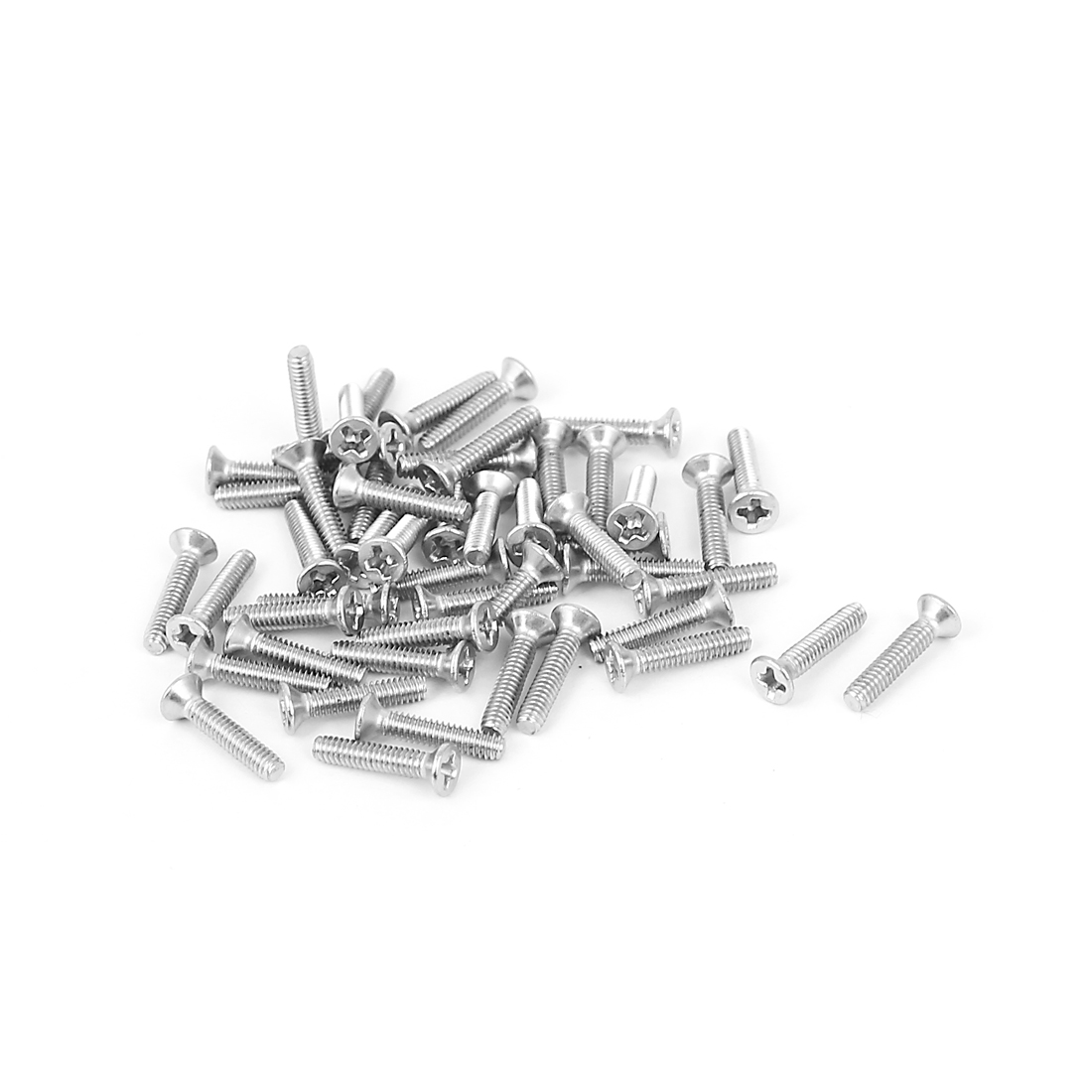 M2x10mm 304 Stainless Steel Phillips Flat Countersunk Head Machine Screws 50pcs