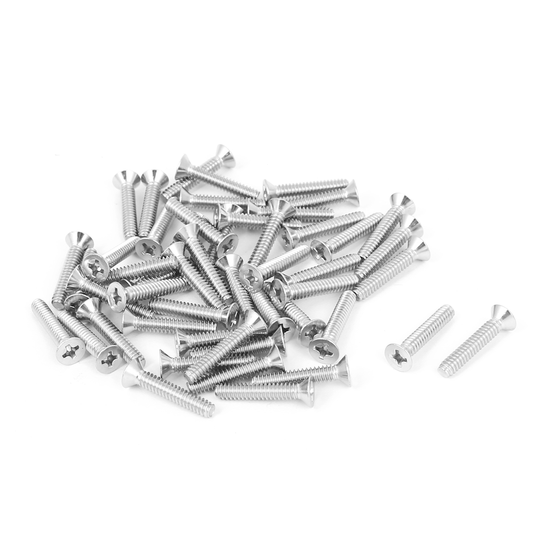 6#-32 304 Stainless Steel Phillips Flat Countersunk Head Screws 50pcs