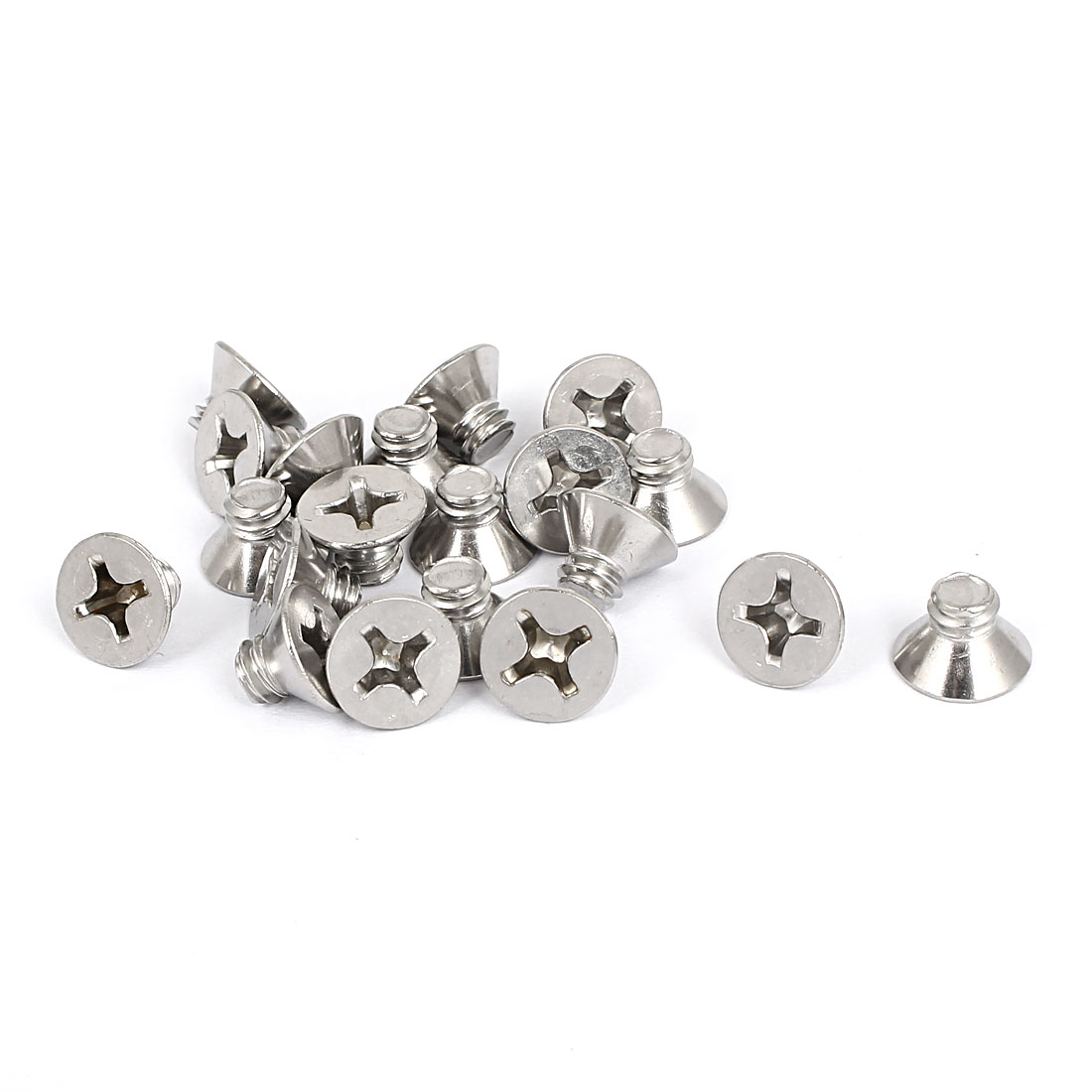 "1/4""-20x5/16"" 304 Stainless Steel Phillips Flat Countersunk Head Screws 20pcs"