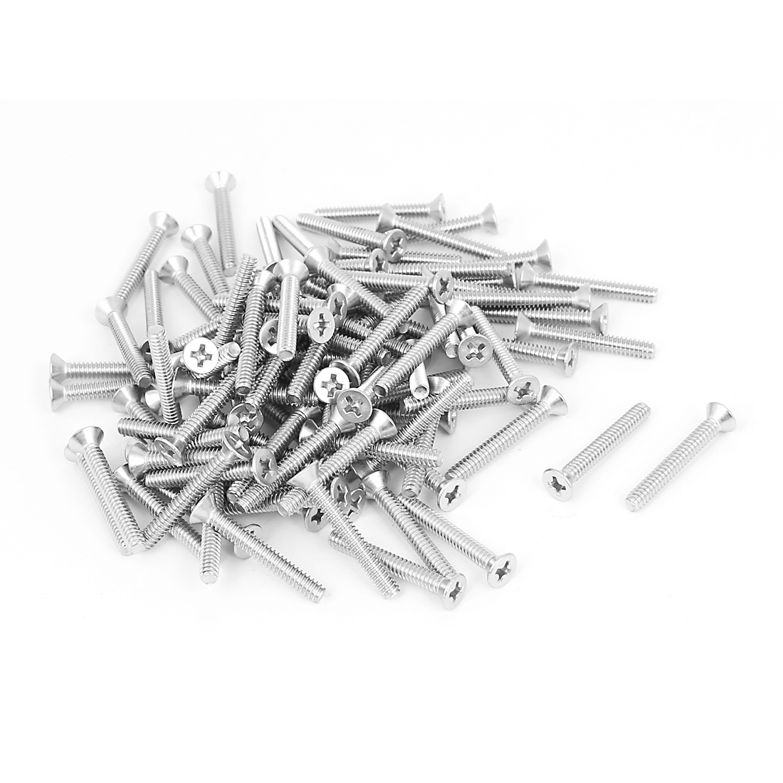 "6#-32x1"" Stainless Steel Phillips Flat Countersunk Head Screws 100pcs"