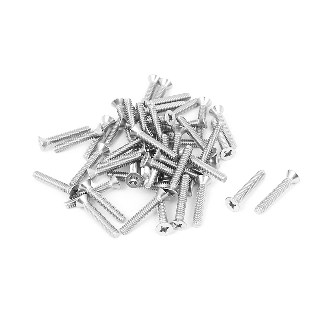 "6#-32x7/8"" 304 Stainless Steel Phillips Flat Countersunk Head Screws 50pcs"