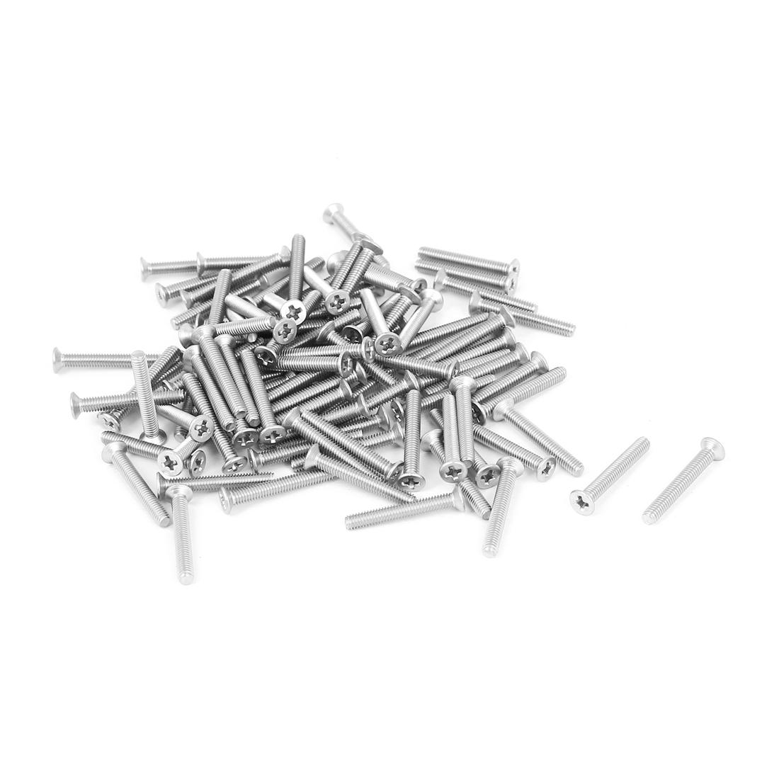 M2.5x18mm Stainless Steel Phillips Flat Countersunk Head Screws 100pcs