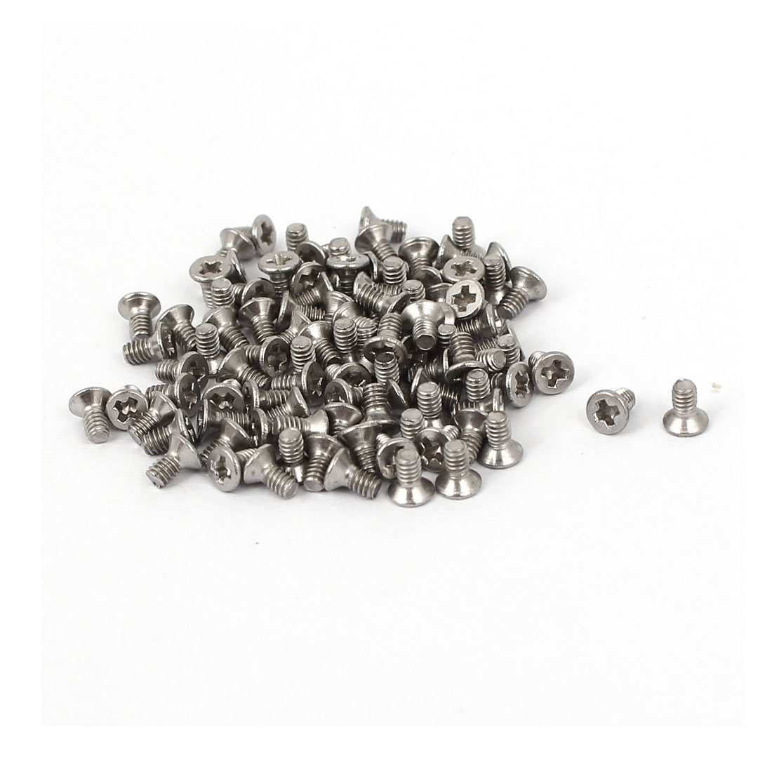 M2x4mm Stainless Steel Phillips Flat Countersunk Head Screws 100pcs