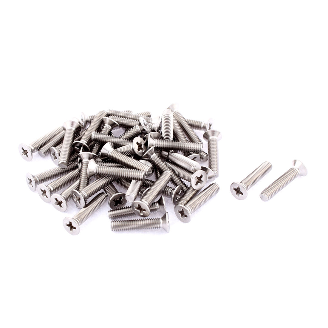 M4 x 20mm Phillips Round Head Countersunk Bolts Machine Screws 50pcs