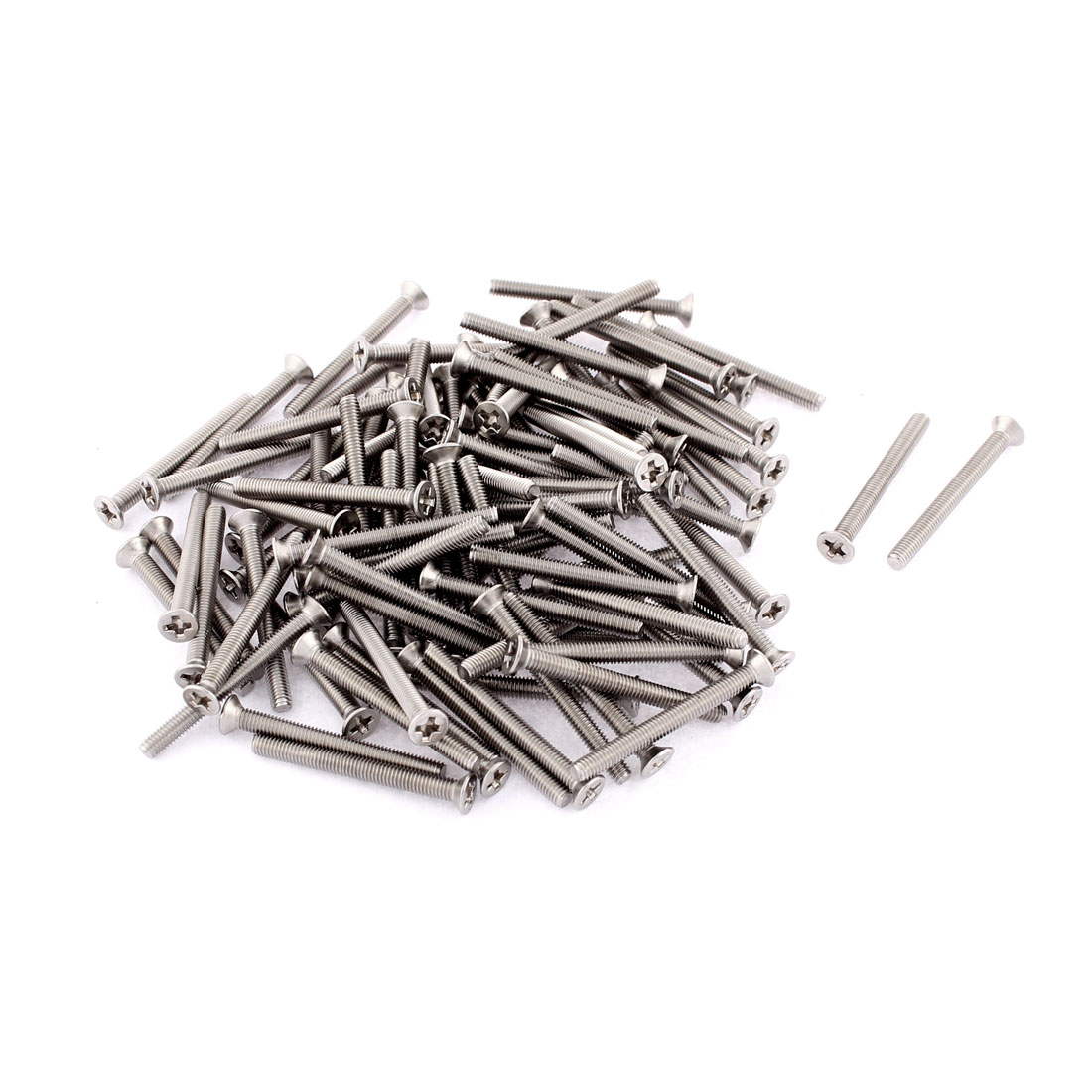 M3 x 30mm Phillips Head Stainless Steel Countersunk Bolts Machine Screws 100pcs