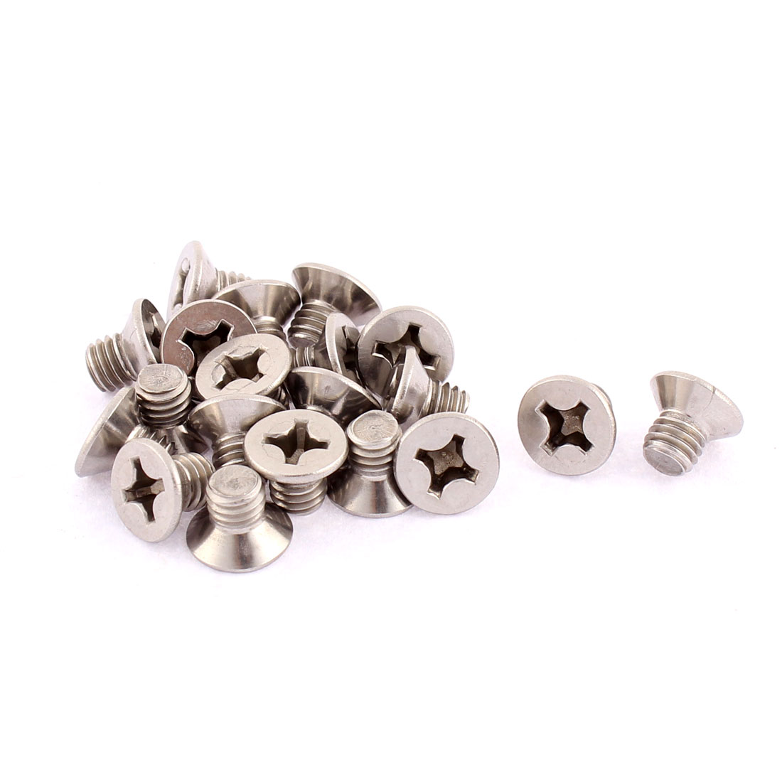 M6 x 8mm Phillips Head Stainless Steel Countersunk Bolts Machine Screws 20pcs