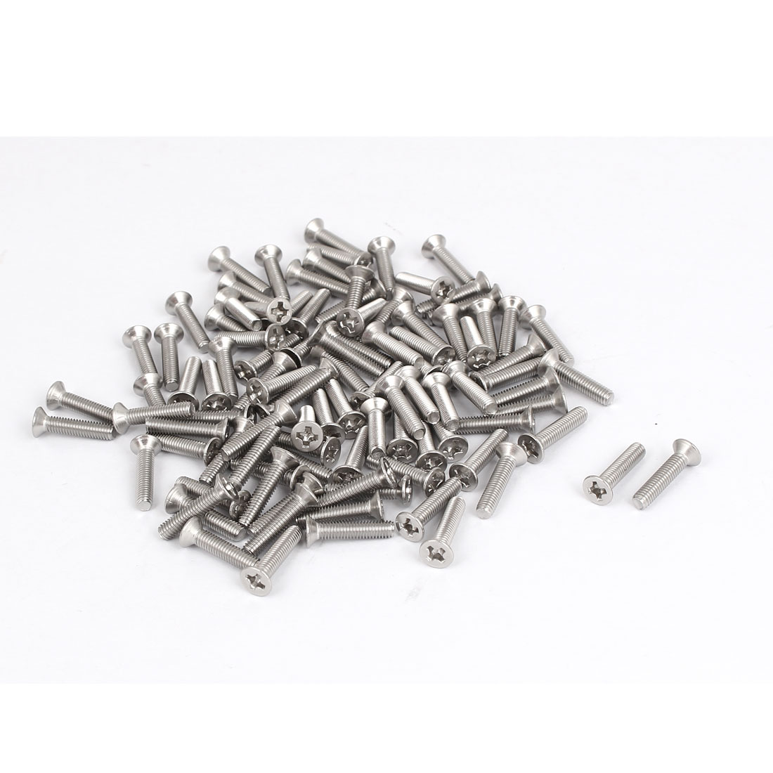 M3x14mm Stainless Steel Phillips Flat Countersunk Head Screws 100pcs