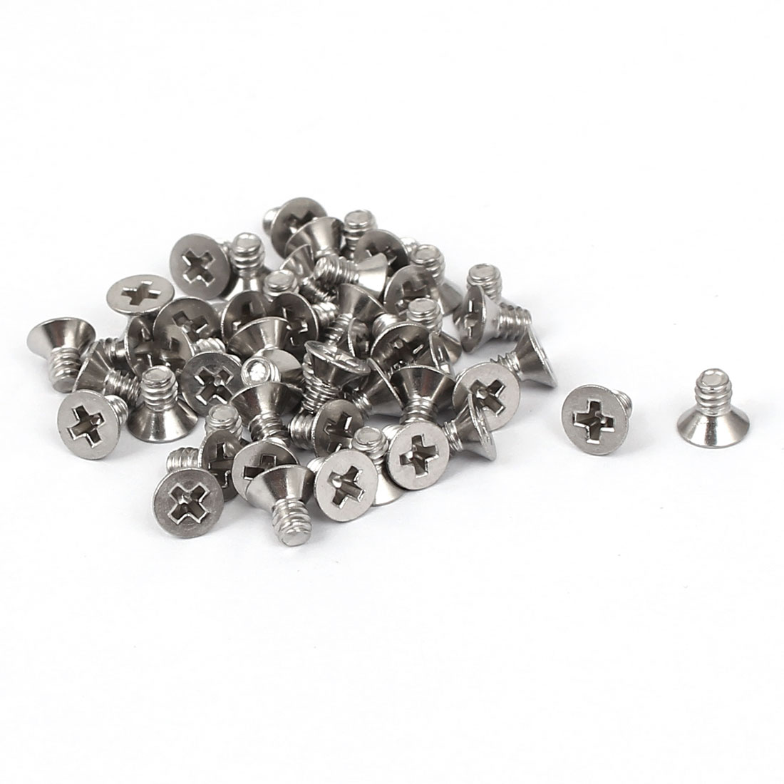 "4#-40x3/16"" Stainless Steel Phillips Flat Countersunk Head Machine Screws 50pcs"