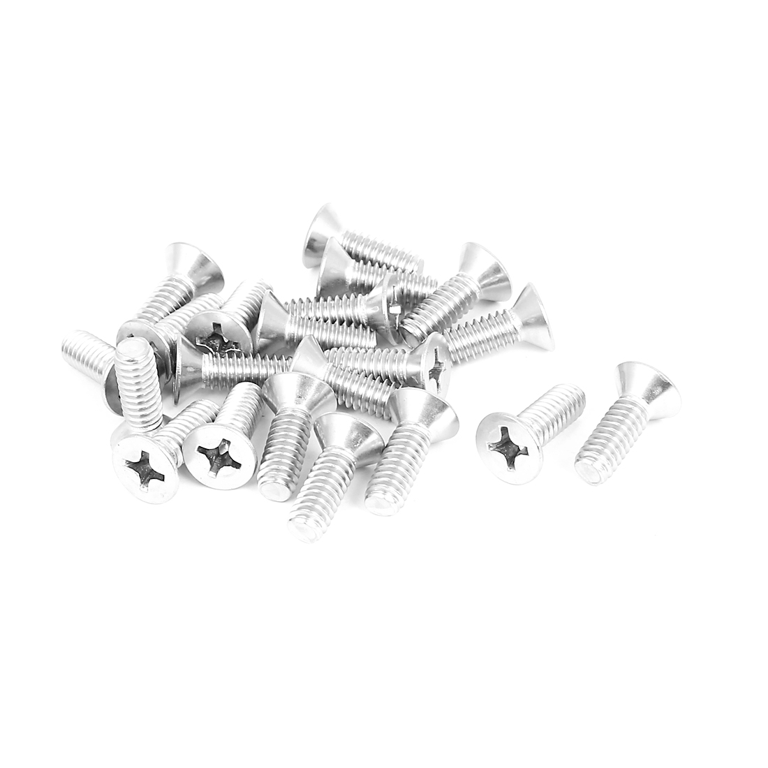 "1/4""-20x3/4"" 304 Stainless Steel Phillips Flat Countersunk Head Screws 20pcs"
