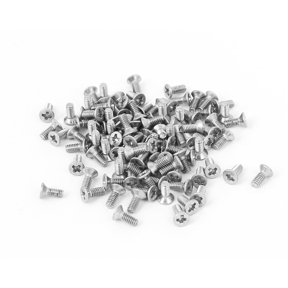 M2x5mm Stainless Steel Phillips Flat Countersunk Head Screws 100pcs