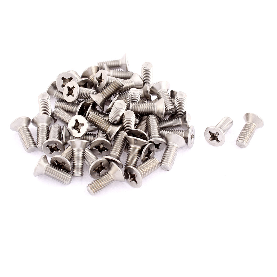 M6 x 16mm Phillips Flat Head Countersunk Bolts Machine Screws 50pcs