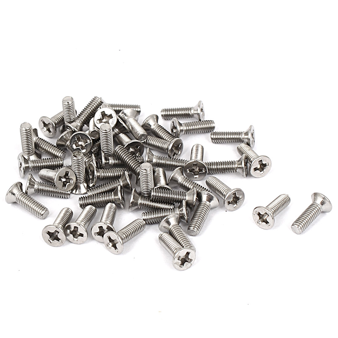 M3x10mm Stainless Steel Phillips Flat Countersunk Head Screws 50pcs
