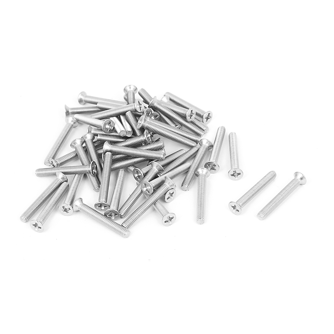 M3x22mm Stainless Steel Phillips Flat Countersunk Head Screws 50pcs