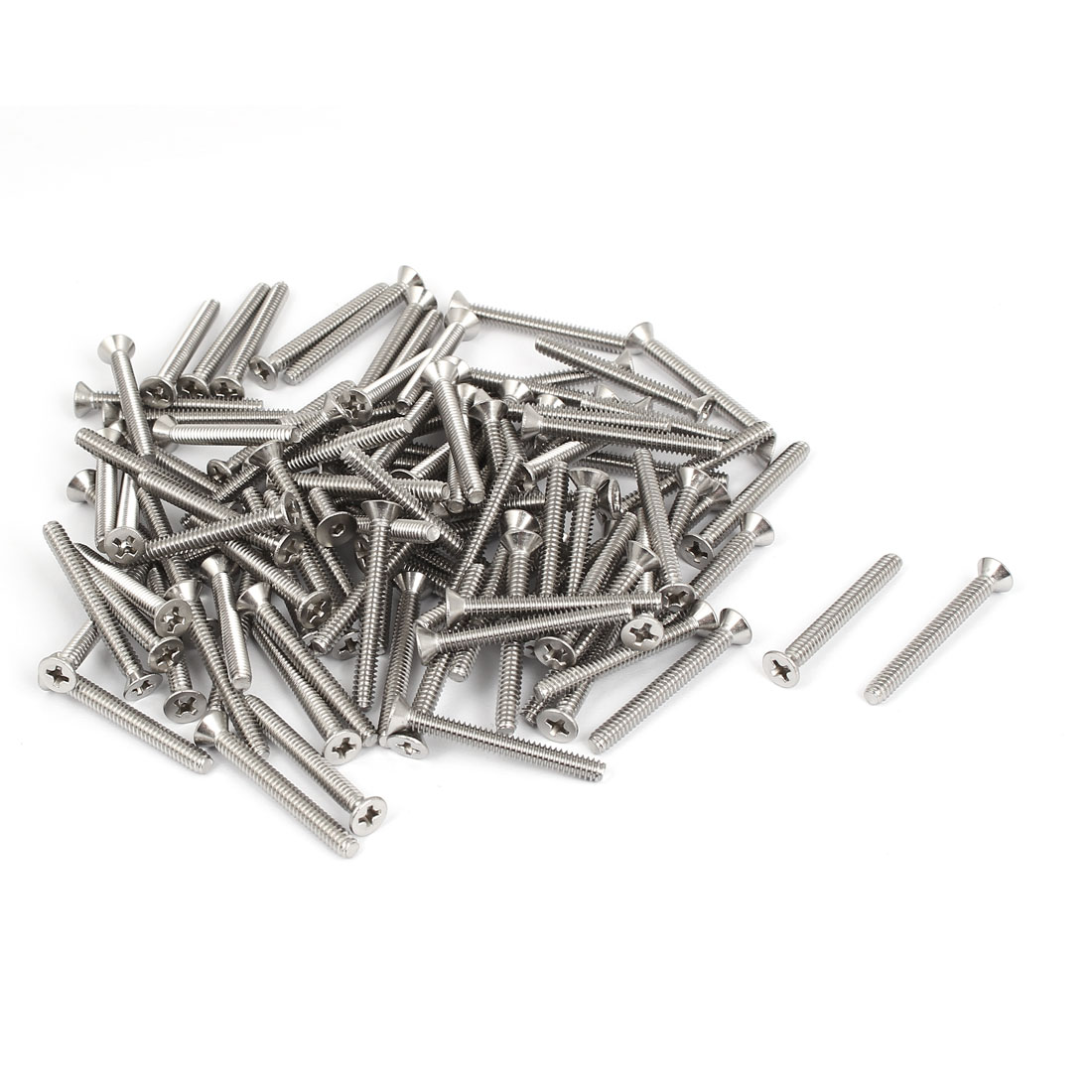 "6#-32x1-1/4"" 304 Stainless Steel Phillips Flat Countersunk Head Screws 100pcs"