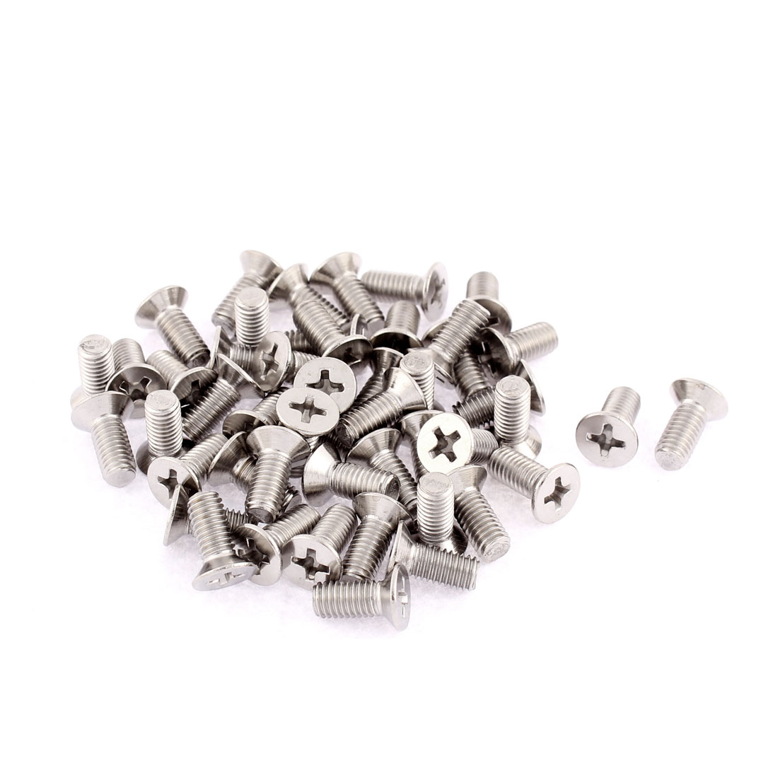 M5 x 12mm Phillips Socket Stainless Steel Countersunk Bolts Screws 50 Pcs