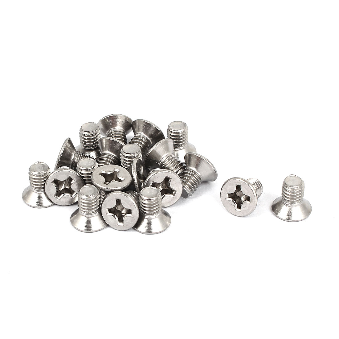 M6x10mm 304 Stainless Steel Phillips Flat Countersunk Head Screws 20pcs