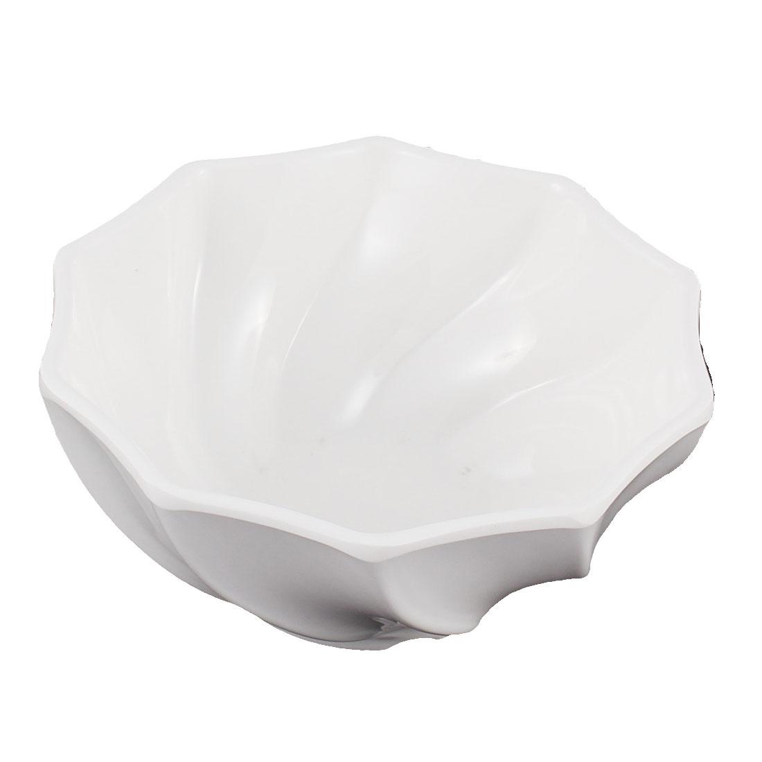 Restaurant Tableware Wavy Edge Salad Soup Serving Bowl White