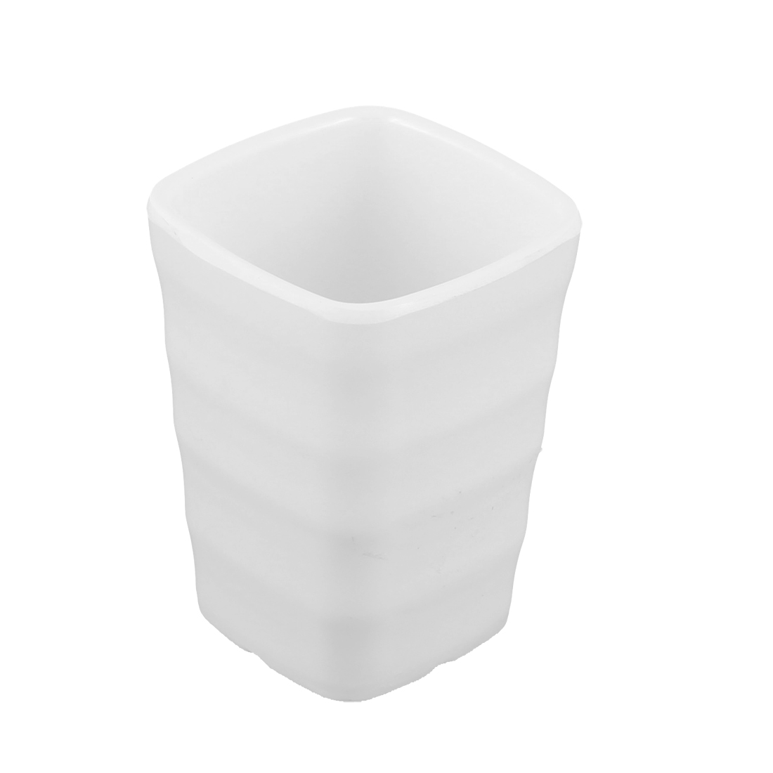 Home Restaurant Plastic Square Water Tea Drinking Cup White