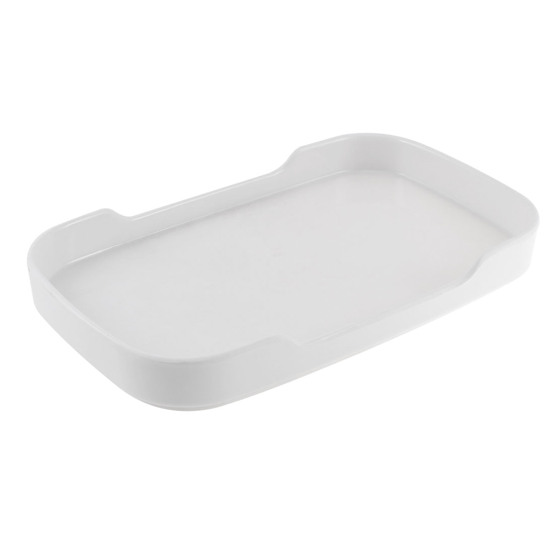 Buffet Hot Pot Plastic Rectangle Shaped Tray Dish Plate White 8.5''