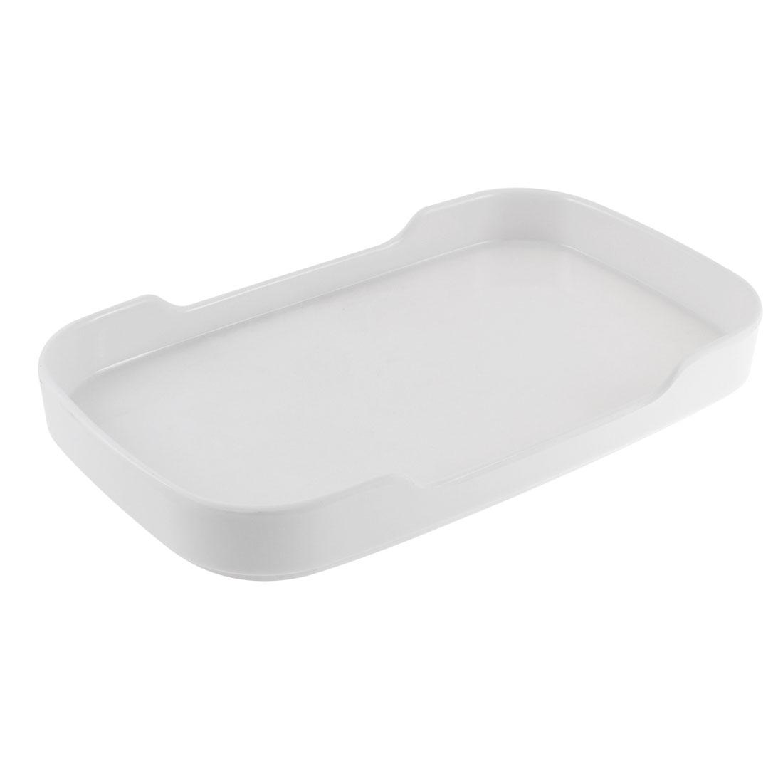 Buffet Hot Pot Plastic Rectangle Shaped Tray Dish Plate White 8.5''