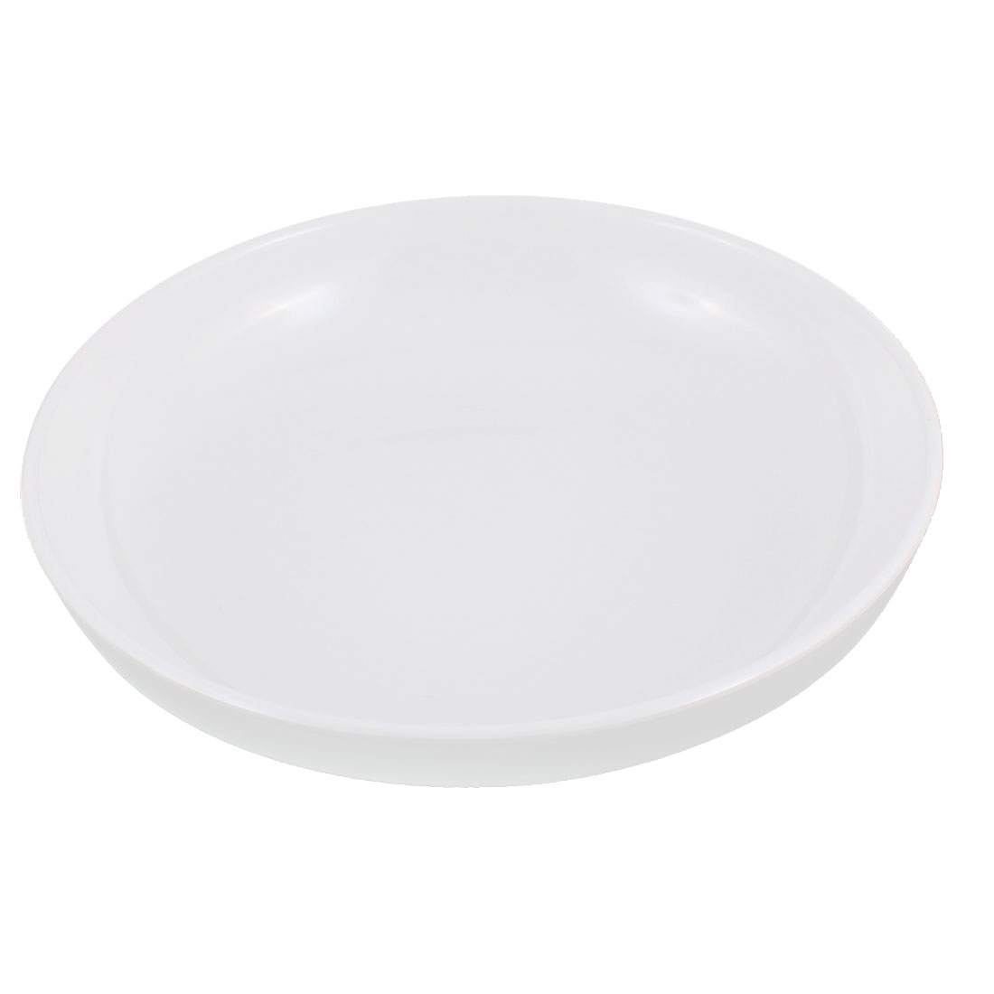 """Kitchen Round Shape Dinner Dish Container Plate White 7"""" Dia"""