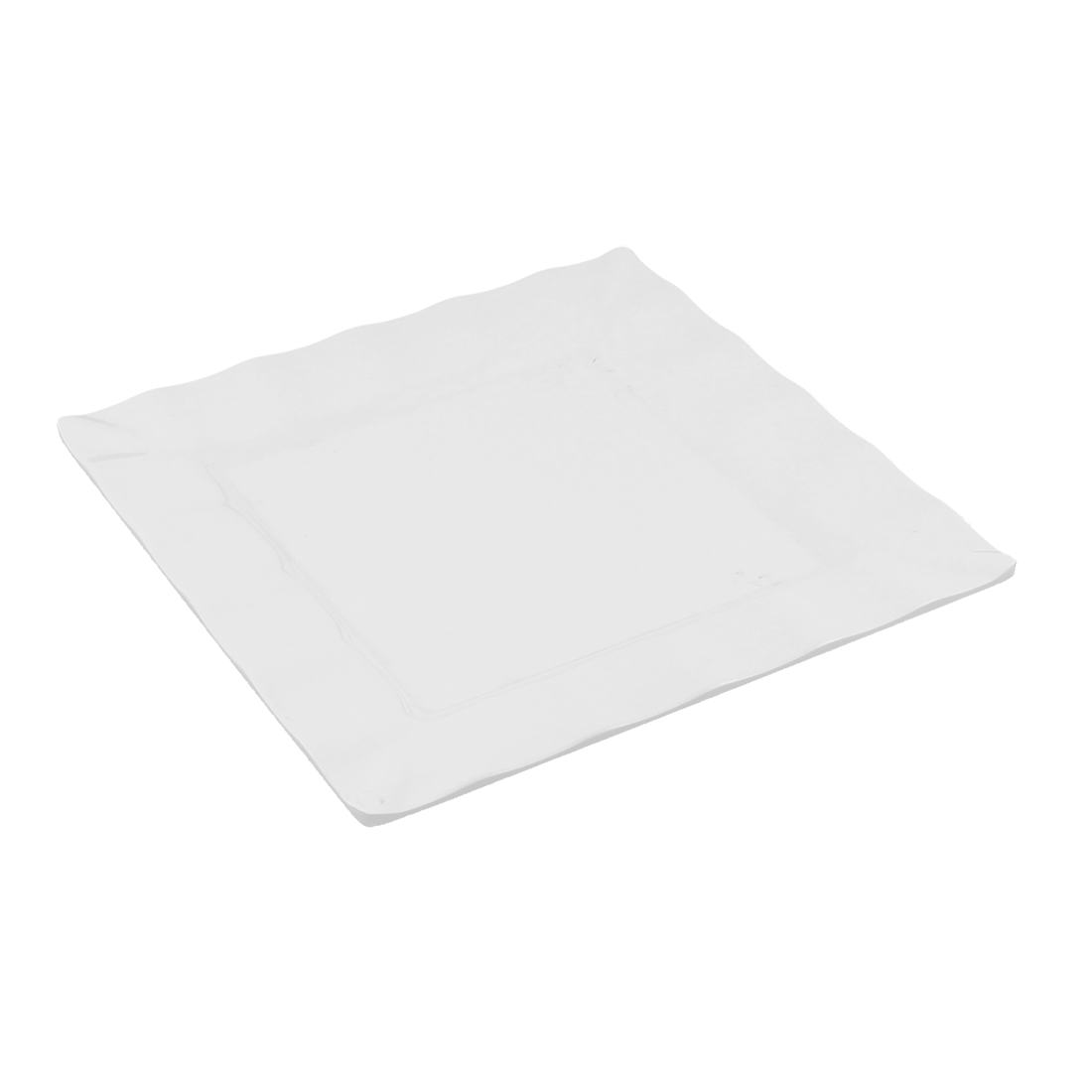 """Dinnerware Banquet Plastic Square Shaped Serving Plate Dish 9.5"""" Length"""