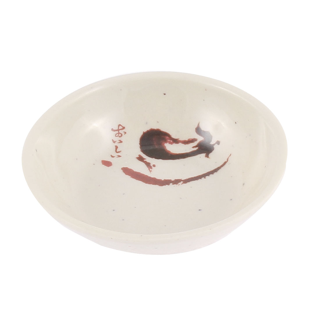 Eggplant Pattern Soy Sauce Dipping Dish Plate 7cm Dia