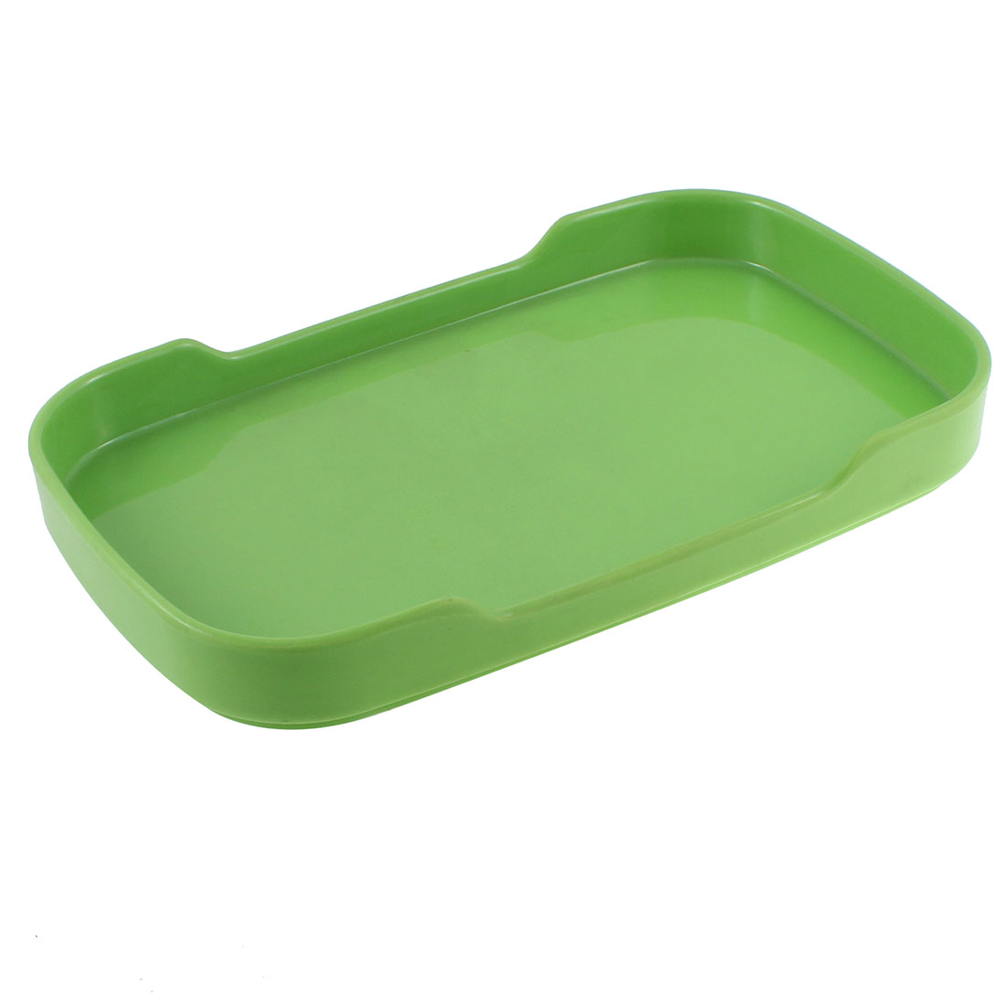 Food Fruit Plastic Rectangle Shaped Tray Dish Plate Tablewear Green 8.5''