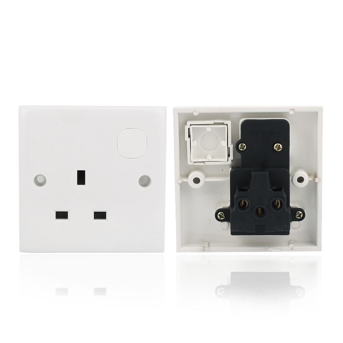AC 250V UK Socket Mains Power Wall Plate Panel Outlet
