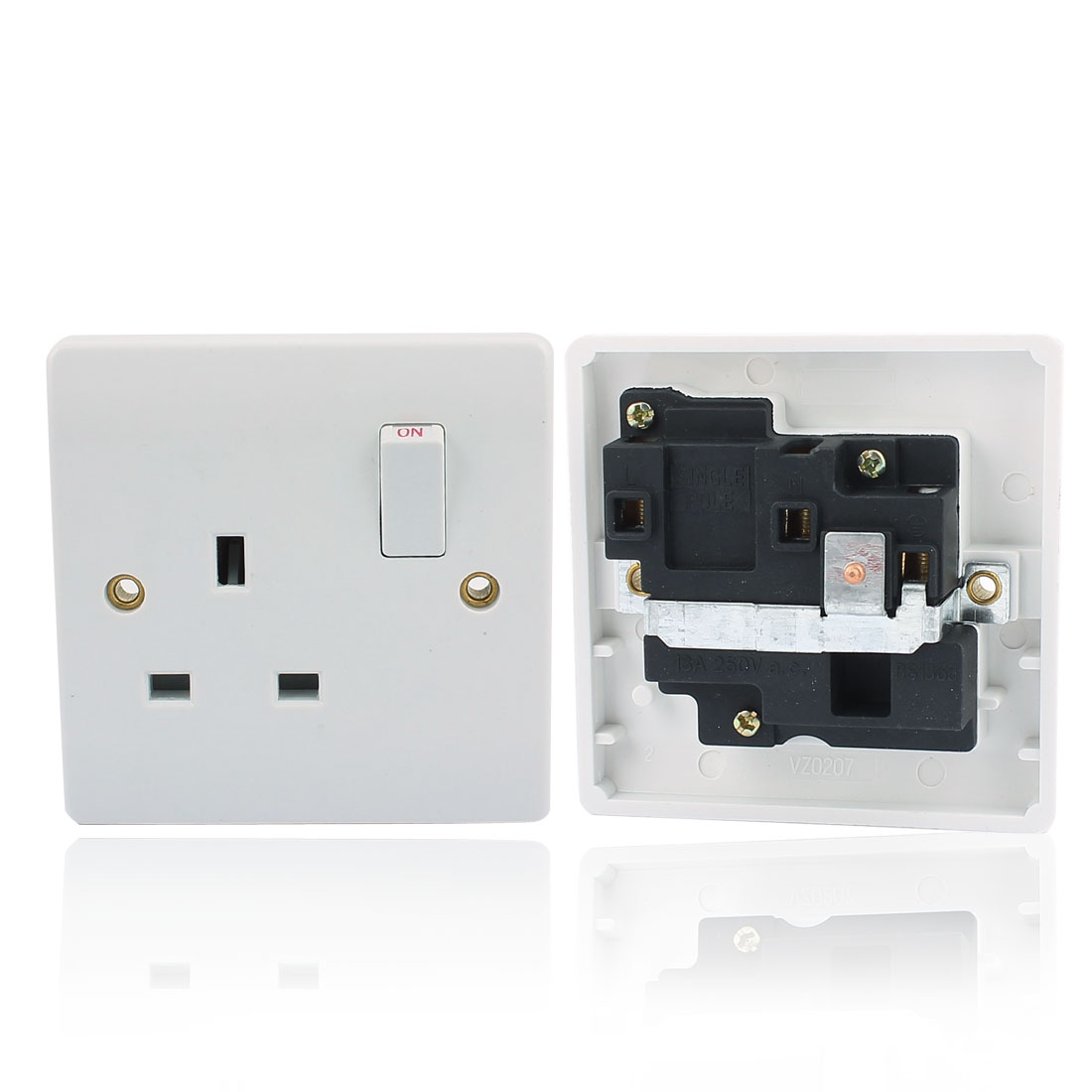 AC 250V UK Socket Mains Power Wall Plate Panel Switch Outlet